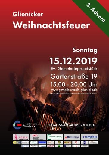 Glienicker Weihnachtsfeuer 2019 (Plakat)